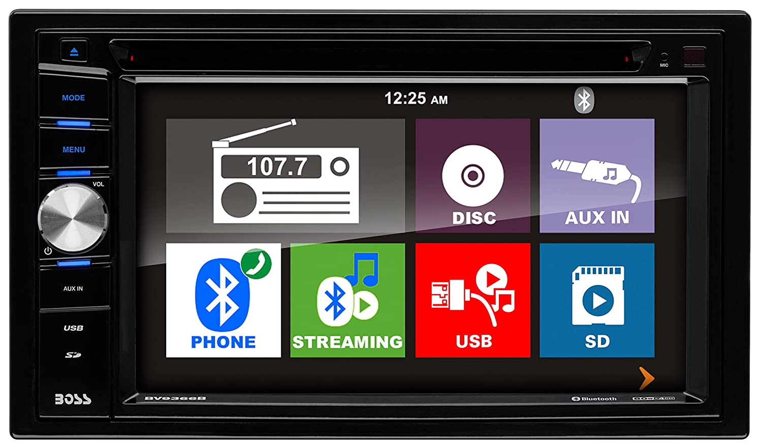 81eMUGE12KL._SL1500_ amazon com boss audio bv9366b double din, touchscreen, bluetooth boss bv9384nv wiring diagram at cos-gaming.co