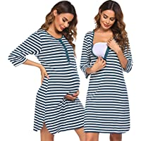 Ekouaer Womens Soft Short Sleeves Pajama Set Ladies Sleepwear 2-Piece Top and Shorts Pants O-Neck S-XXL