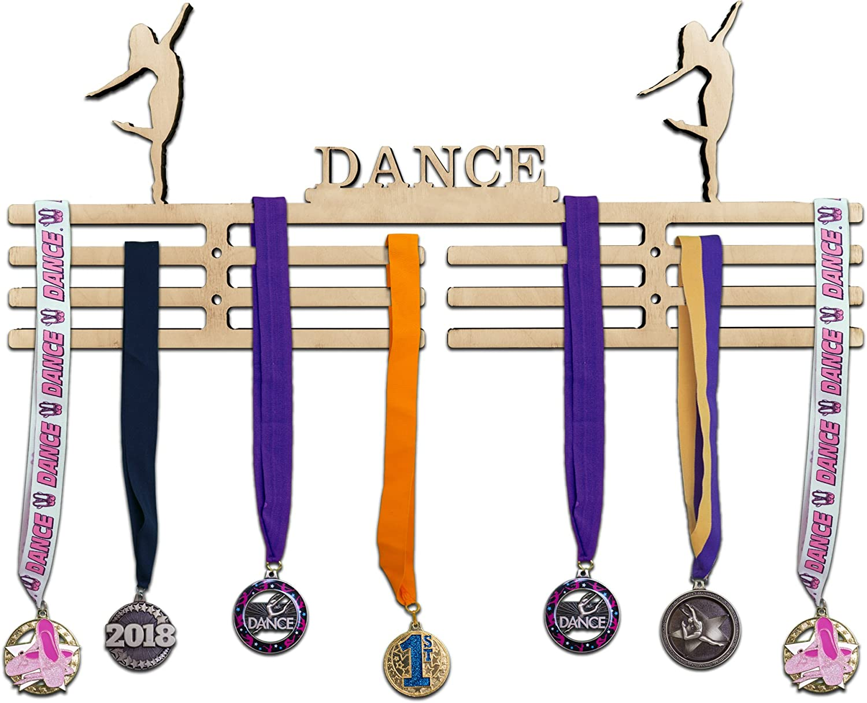 Dancing Stainless Steel Dance Medal Holder Hanger Display Shelf Rack Wall Mount