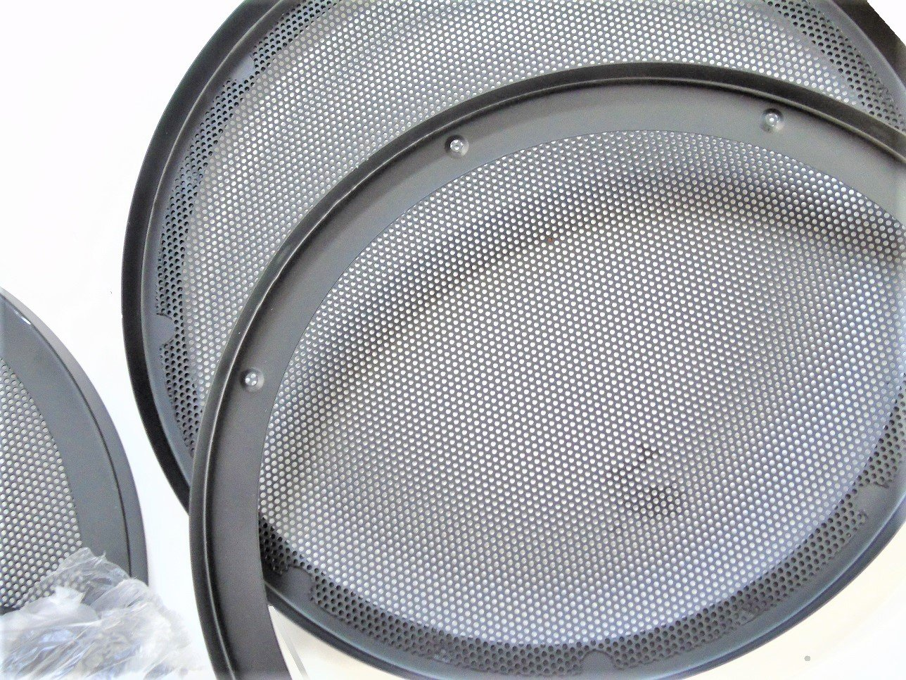 Heavy Gauge Pair 12 Inch Classic Beehive High Excursion Subwoofer Speaker Grills with Reinforcement Ring