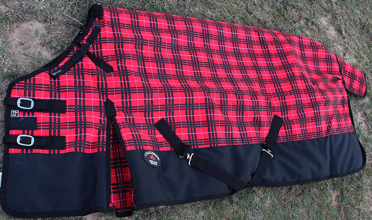 CHALLENGER 74 1200D Turnout Waterproof Horse Tough Winter Blanket Heavy Red 581 TackRus