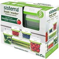 Sistema FreshWorks - 5 Pack (2 x 591ml, 2 x 1.5L, 1 x 1.9L)
