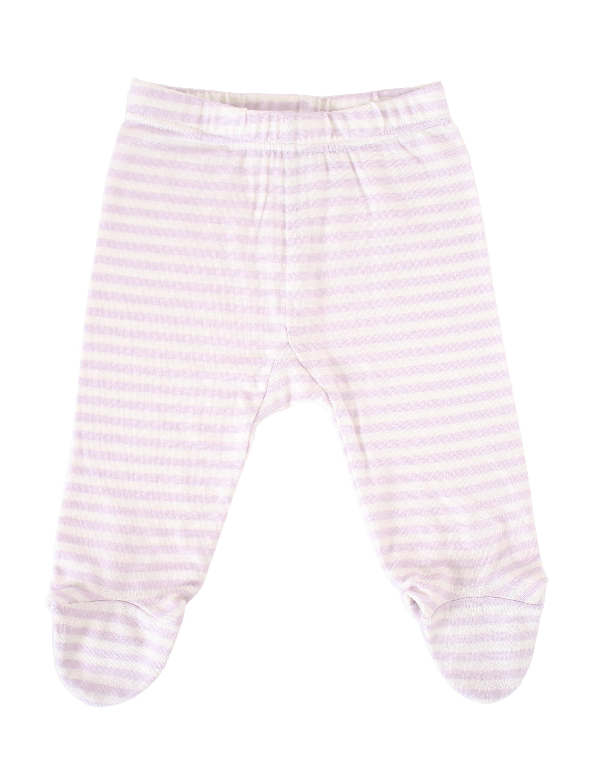 Woolino Baby Girls Footed Romper Pants, 100% Superfine Merino Wool, 3-6 Months, Lilac