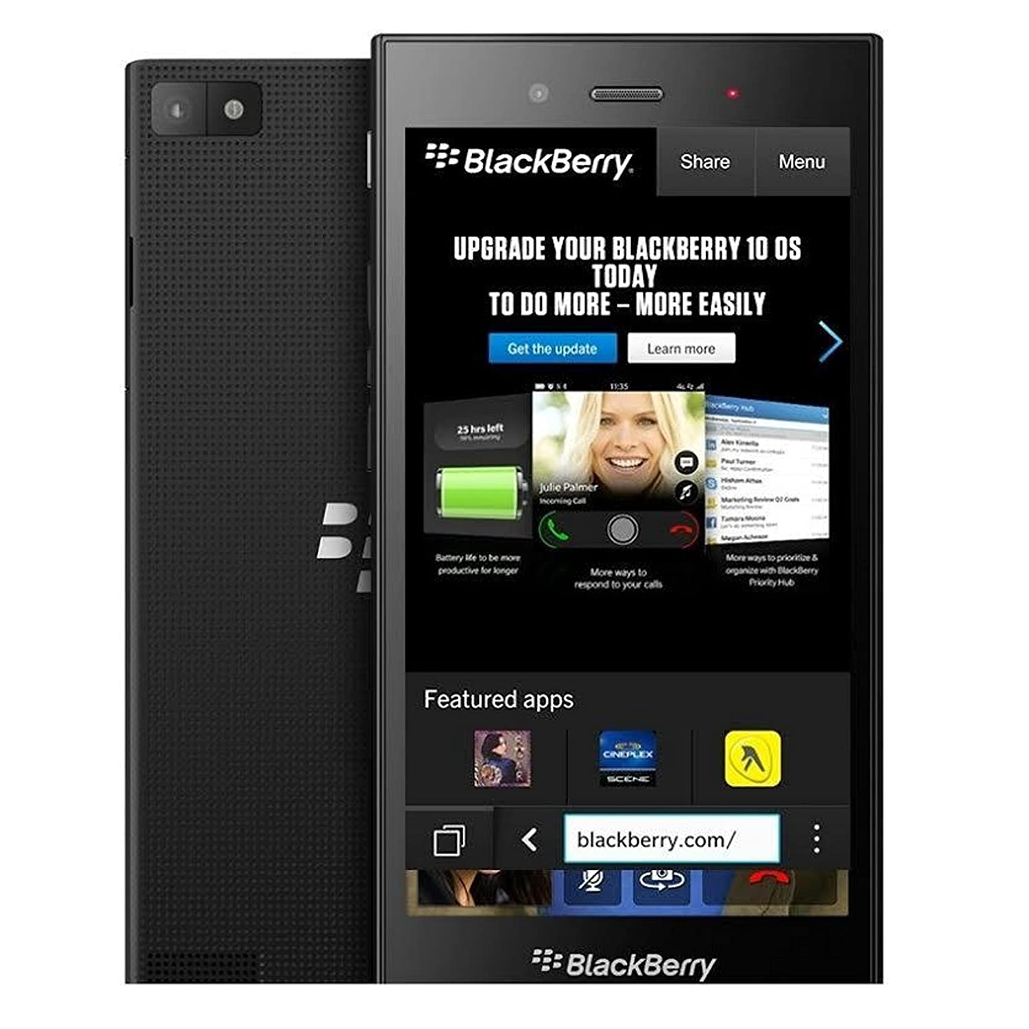 BlackBerry Z3 STJ100-2 Unlocked GSM BlackBerry OS Cell Phone - Black