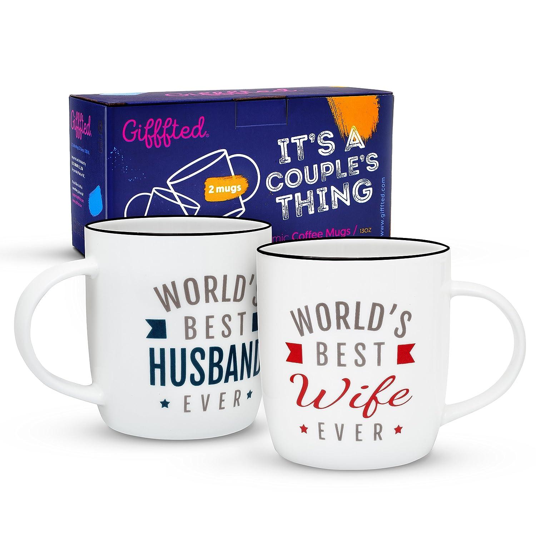 Gifffted Beste Ehefrau und Bester Ehemann der Welt Kaffeebecher ...