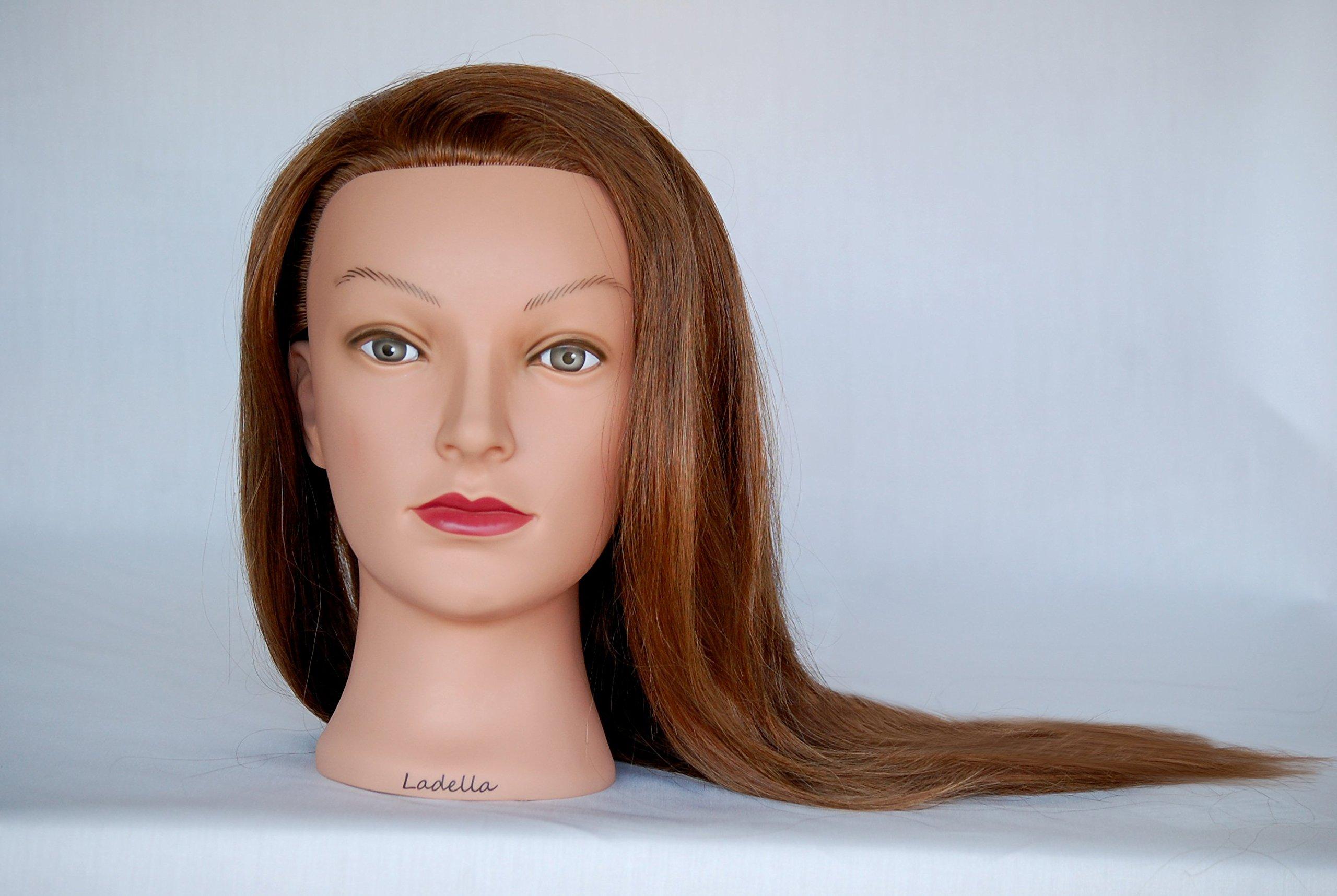 Ladella Beauty 20 - 22 '' Cosmetology (Heavy Density) 100 %Human Hair Mannequin Manikin Training Head - Avery