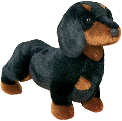 Amazon Com Stuffed Spats Black And Tan Dachshund Dog 14 Toys Games