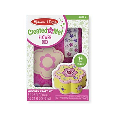 Melissa & Doug Decorate-Your-Own Wooden Flower Box Craft Kit: Melissa & Doug: Toys & Games