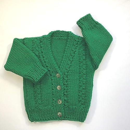 731e30f36 Amazon.com  Baby Irish cardigan 6 to 12 months  Handmade