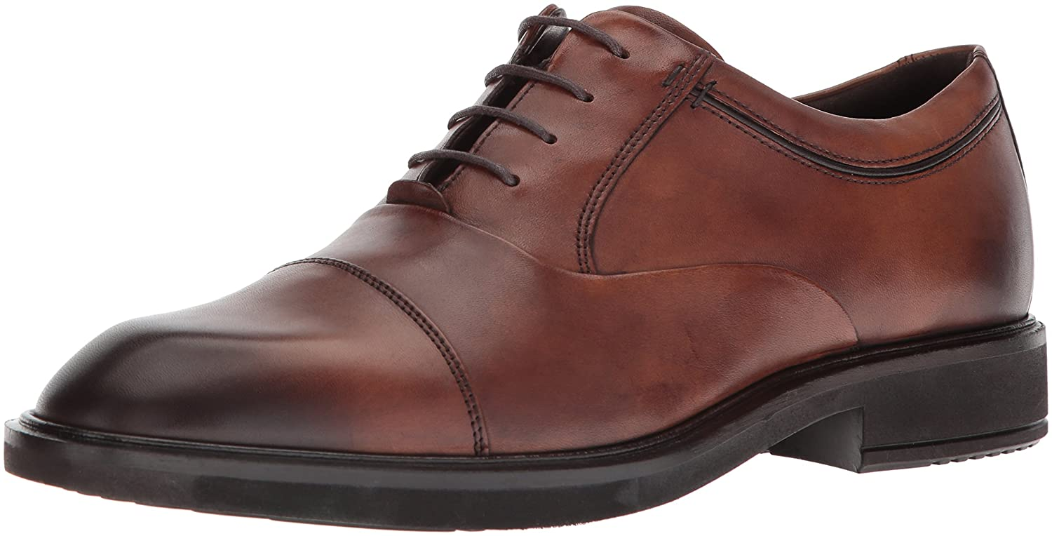 - ECCO Men's Vitrus II Tie Oxford, Amber Cap Toe, 47 M EU (13-13.5 US)