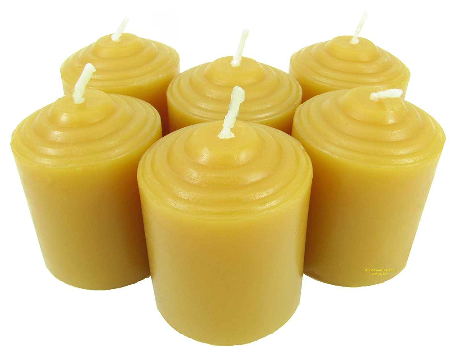 100% Pure USA Beeswax 10 Hour Votive (Pack of 12) Beeswax Candle Works Inc