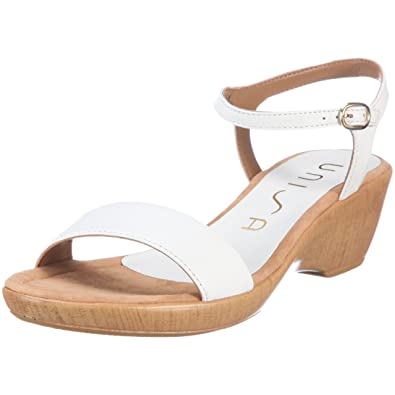 Unisa IRITA-11, Damen, Sandalen/Fashion-Sandalen, Weiss (WHITE
