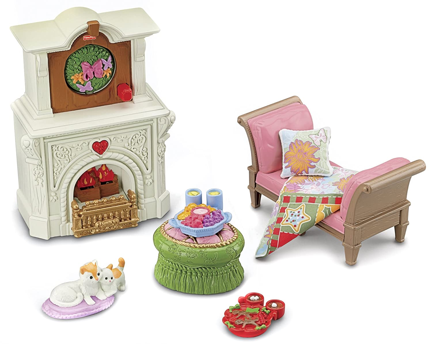 Amazon.com: Fisher-Price Loving Family 2-In-1 Seasonal Room Set ...