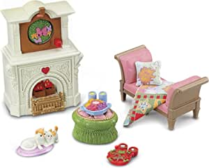 New Fisher Price Loving Family Holiday Dollhouse Christmas Fireplace Mantel