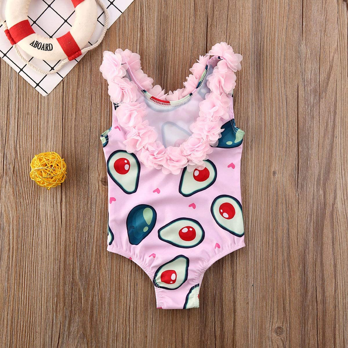 Cotby Toddlers Bathing Suit Princess Flounce Bikini Beach Sport 1 Piece Swimsuit for Baby Girls