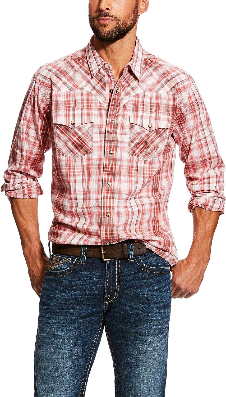 Multicolor ARIAT Mens Iwerson Long Sleeve Retro Snap Shirt