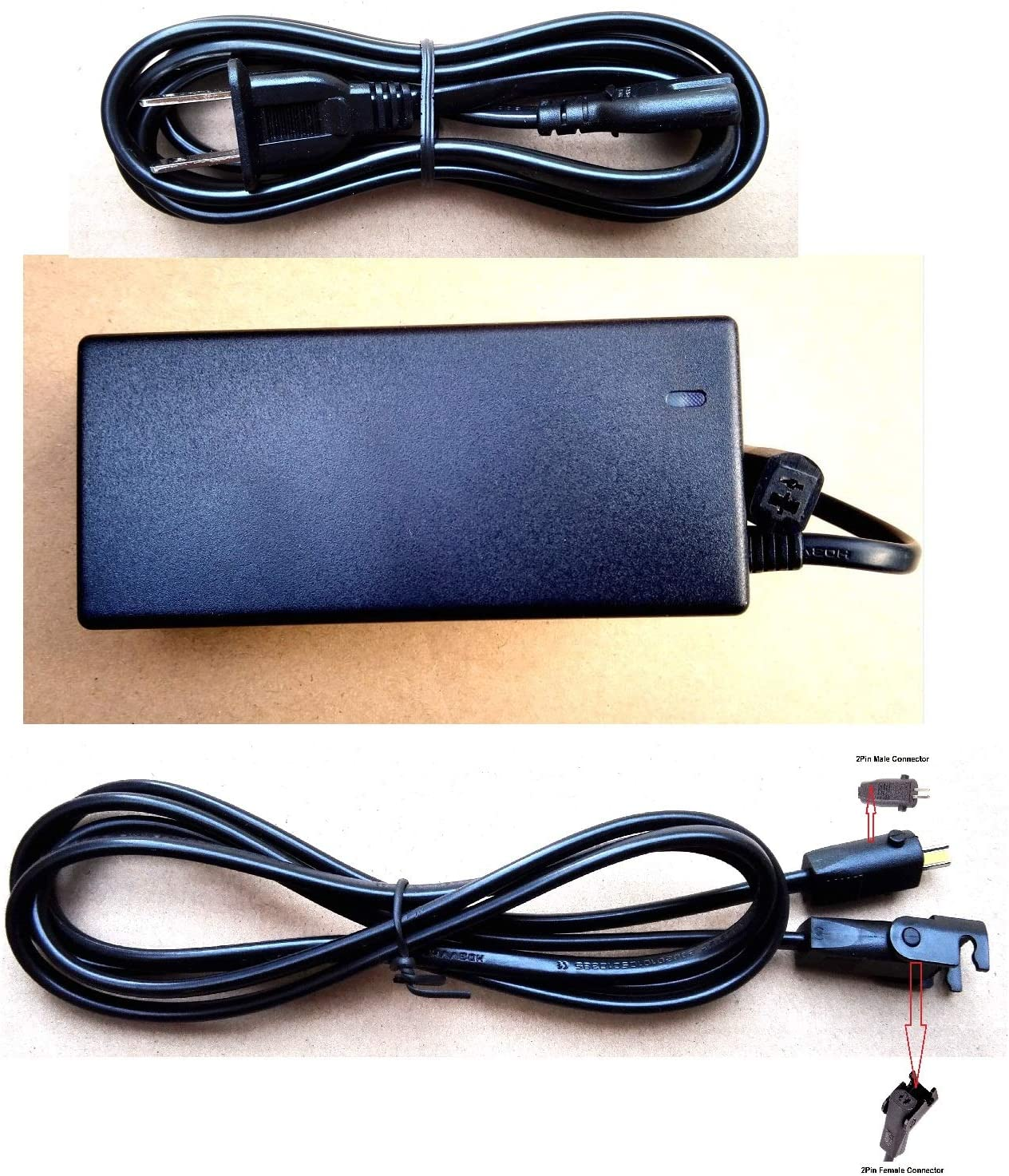 hmleaf Pride Lift Chair Power Transformer Adapter or Okin Electrical Sofa or Limoss Power Recliner Charger 29V 2A, Small Size or with Cables (Adapter+Power Cable+Motor Cable)