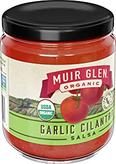 product image for Muir Glen Organic Salsa, Garlic Cilantro, 16 oz, 12 Pack