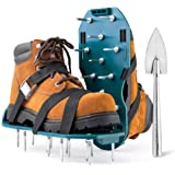 Jumbo Varieties Lawn Aerator Shoes - Comfortable Grass Aerating Spike Sandals for Lawns with Stainless Steel Shovel…