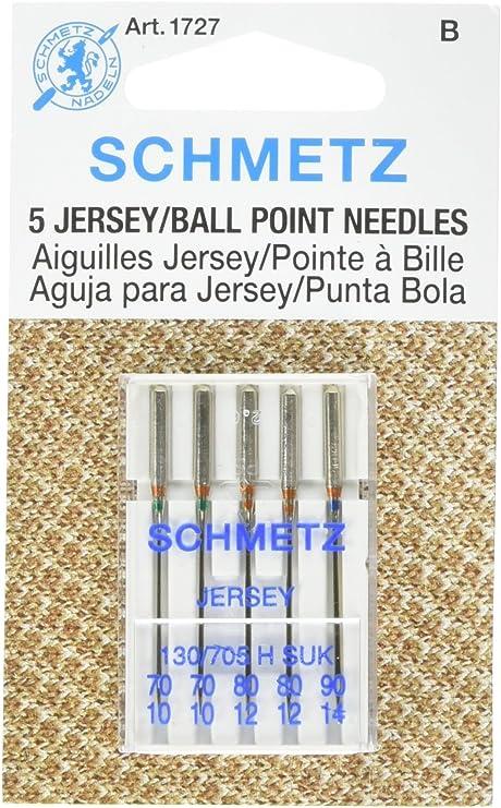 25 Schmetz Jersey Punto bola surtido Agujas para máquina de coser ...