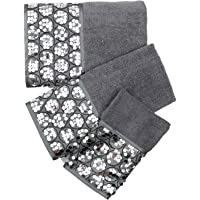 Popular Bath Bath Towels, Sinatra Collection, 3-Piece Set, Silver