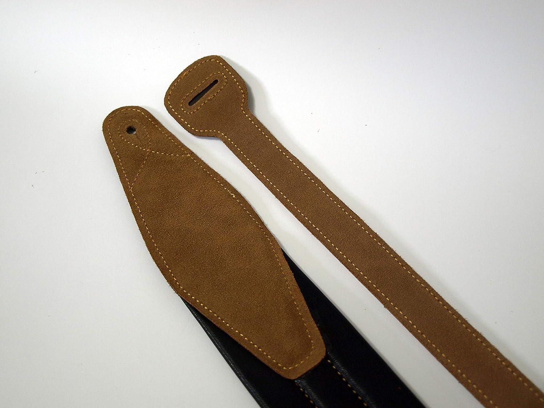 Tracolla in pelle per chitarra acustica Soldier colore: marrone scuro imbottita basso e classico elettrica perfetto come regalo.