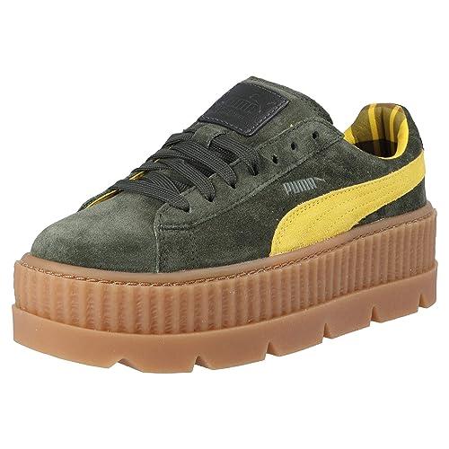 f1d53c1fc Puma X Fenty Wmn Cleated Creeper Suede 366268 01 Donna Sneaker Verde,  Taglia:40.5