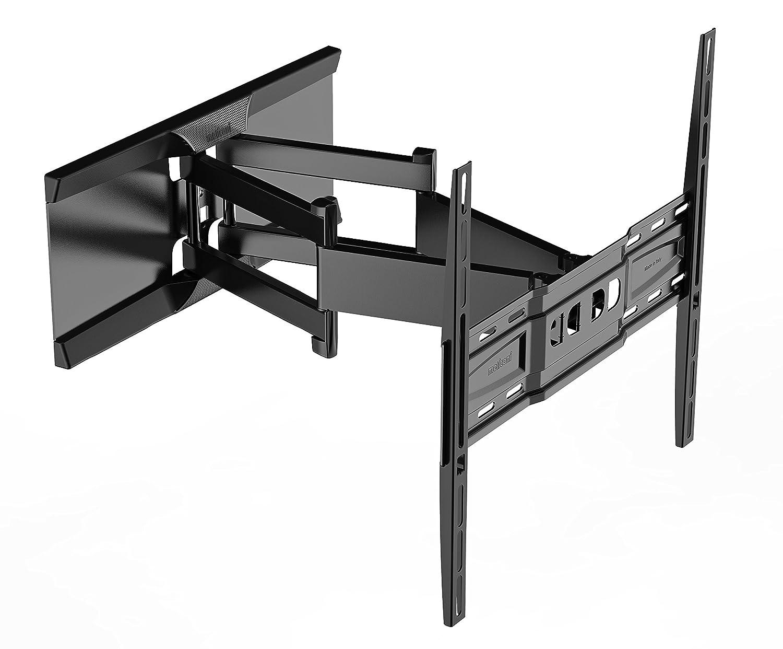 Meliconi SlimStyle 400 SDRP Supporto Doppio Braccio Ultra Sottile da Parete per TV da 32'' a 80'', VESA 200 - 300 - 400, Nero VESA 200 - 300 - 400 480865 BA1 cartongesso design