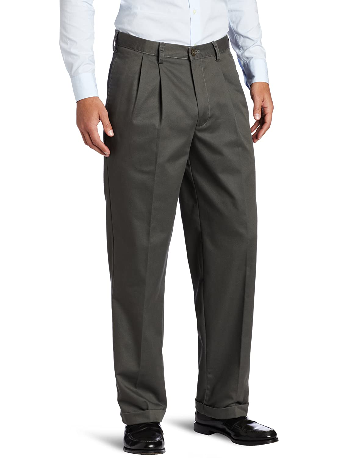 Izod Men/'S Big And Tall Pleated Extended Twill Pant
