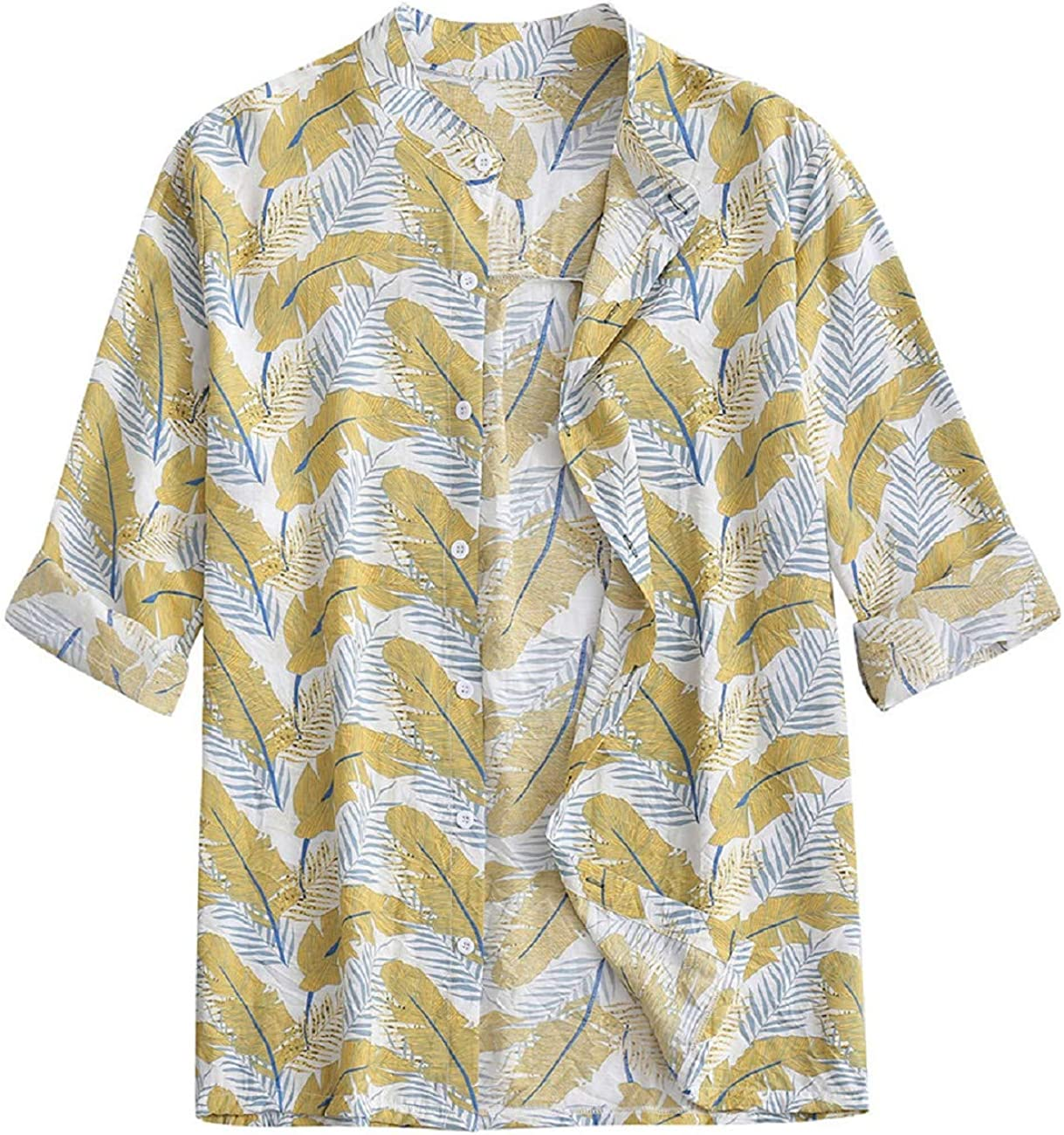 Camisa Hawaiana para Hombre Camisa De Manga Larga para Hombre Moda Casual Camiseta Estampada Tops AlgodóN De Lino Camisa Suelta Blusa Camiseta De Fiesta En La Playa Camiseta Resplend: Amazon.es: Ropa y