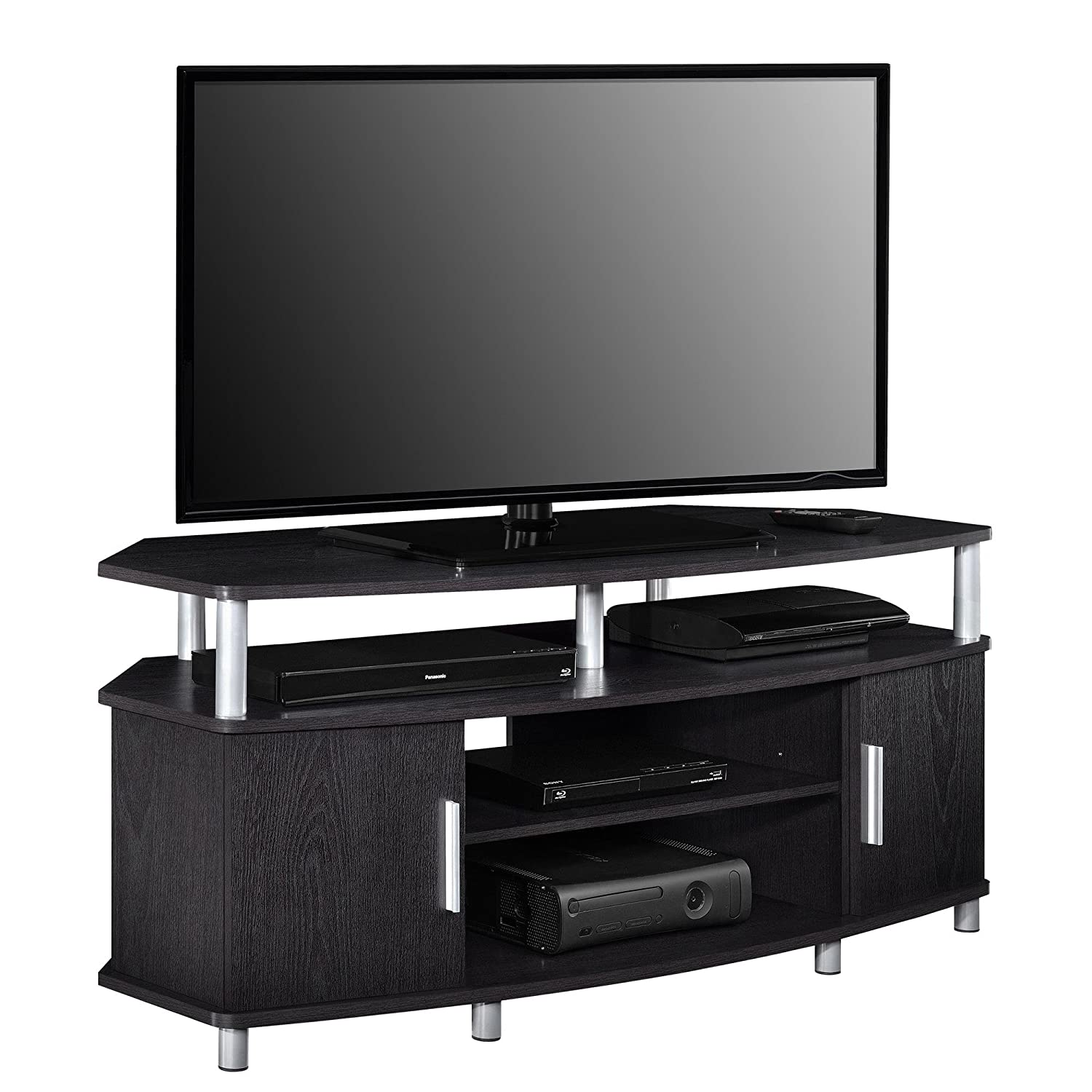Amazon Com Ameriwood Home Carson Corner Tv Stand For Tvs Up To 50
