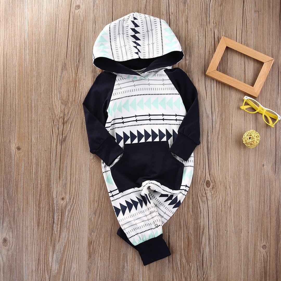 Baby Long Sleeve Romper Full Cartoon Pattern Happy Camper Print Button Down Jumpsuit Pajamas Christmas Playsuit
