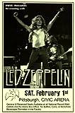 Led Zeppelin Page Plant 1975 Civic Arena Pittsburgh LIVE Retro Art Print — Poster Size — Print of Retro Concert Poster — Features Jimmy Page, Robert Plant, John Bonham and John Paul Jones .