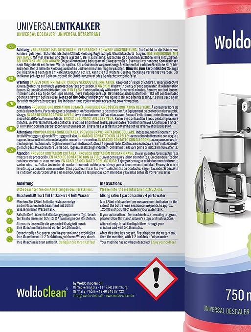Descalcificador para cafetera concentrado liquido 3x 750ml ...
