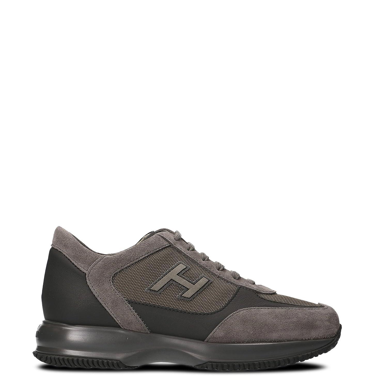 Hogan メンズ HXM00N0V540E1C16F2 グレー セーム 運動靴 B07DNDLXQT