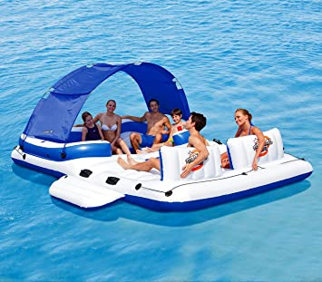 43105 Ile flottante gonflable Coolerz Tropical Breeze Bestway 389x274 cm