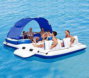 43105 Isla gigante inflable Coolerz Tropical Breeze Bestway 389x274 cm: Amazon.es: Juguetes y juegos