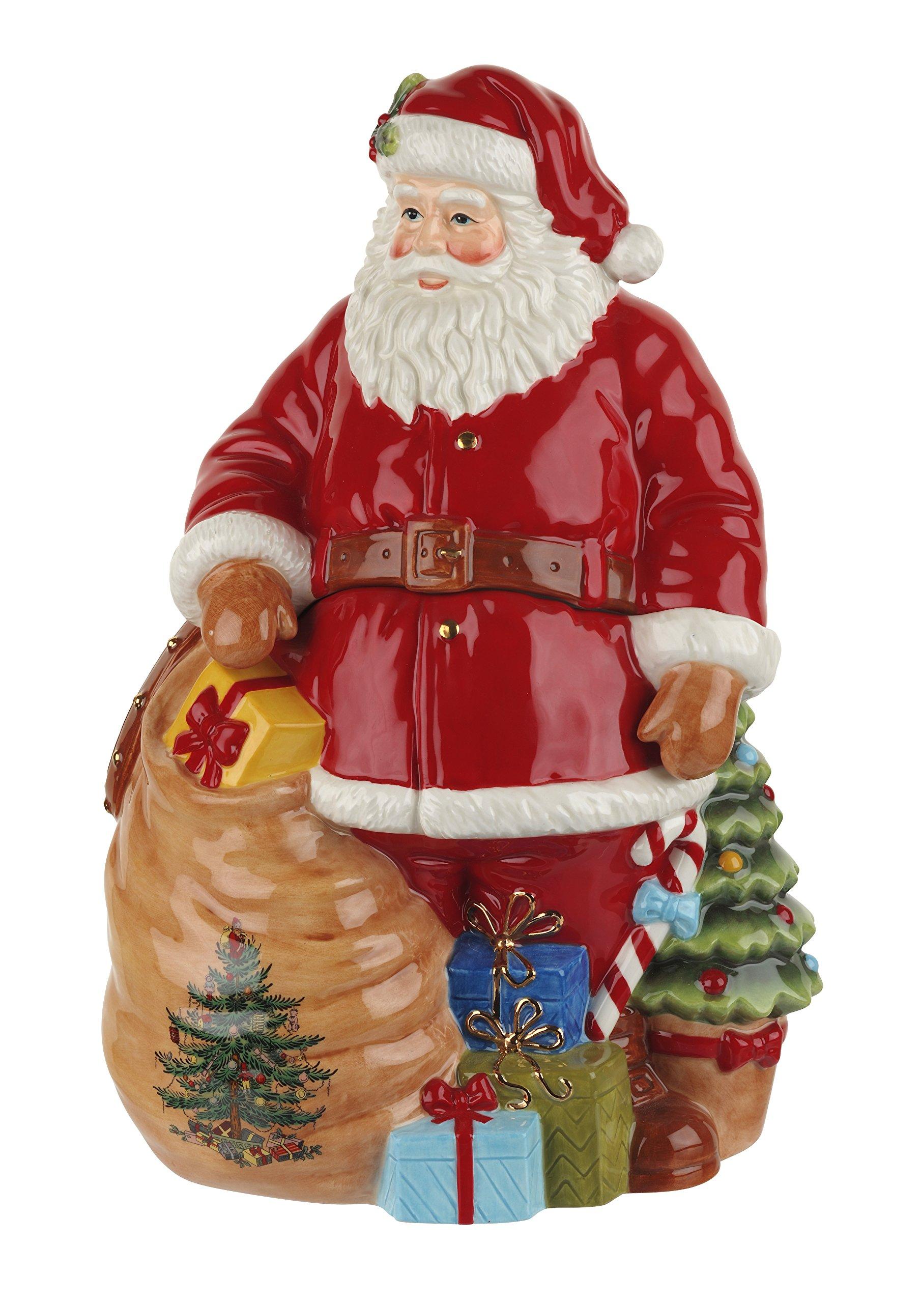 Spode Christmas Tree Santa Cookie Jar