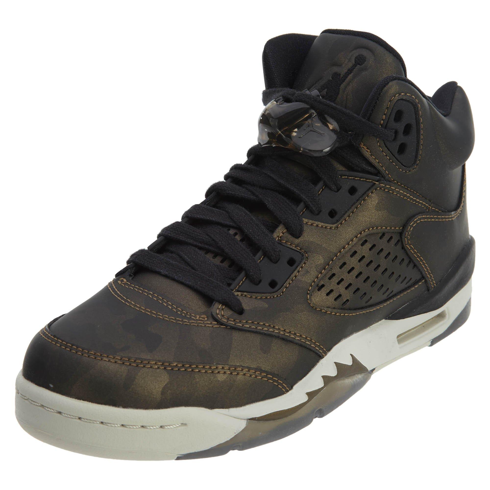 Nike Air Jordan 5 V Premium Heiress Camo Bronze GS Grade School 5 919710-030