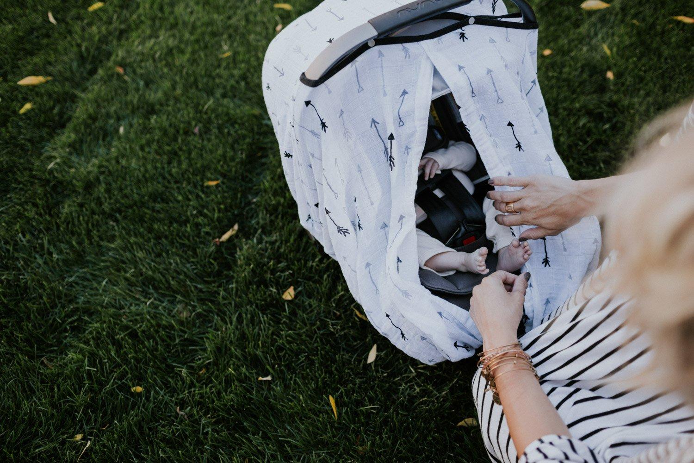 Amazon.com: Little Unicorn muselina de algodón Asiento de ...