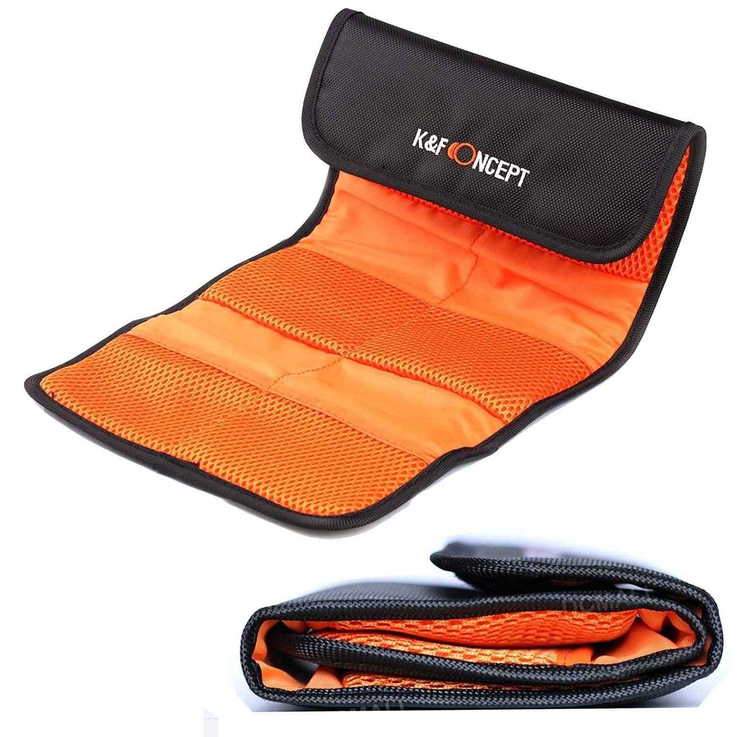 Filter Pouch,Camera Lens Filter Bag Pouch Wallet Case Filter Holder for all Digital Camera Circular or Square Filters,Holds round filters up to 77mm 6 Pocket