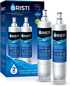 BRISTI 4396508 Refrigerator Water Filter Replacement for EveryDrop Filter 5, EDR5RXD1, Whirlpool 4392857, NL300, 4396510, 4396509, 4396547, LC400V, 4396510p, WF-NLC240V,PNL240V, 2PACK