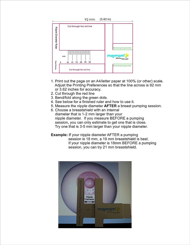 Comparable a Medela PersonalFit 15mm Maymom Kit extractor de leche Medela de oscilaci/ón de lactancia v/álvula Mediana para senos membrana y tubo de repuesto para la bomba de oscilaci/ón Medela.