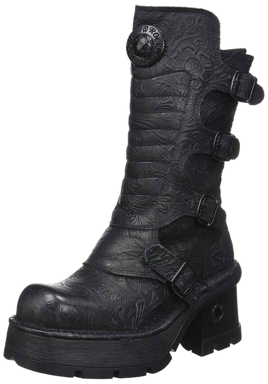 New Rock Damen M 373qx s2 Biker Boots  Schwarz  UK 4  UK 4 Schwarz (Black 001)