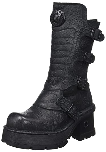 M-373QX-S2, Bottes Motardes Femme, Noir (Black), 41 EUNew Rock