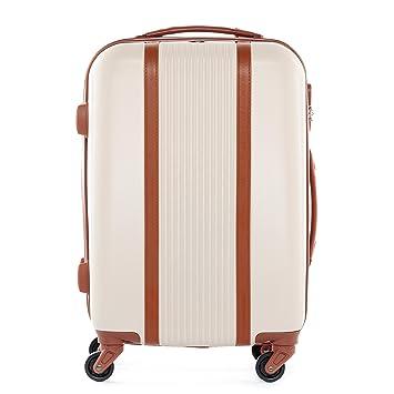 Welp FERGÉ® Handgepäck-Koffer Milano Bordgepäck-Trolley Retro Leder BK-32