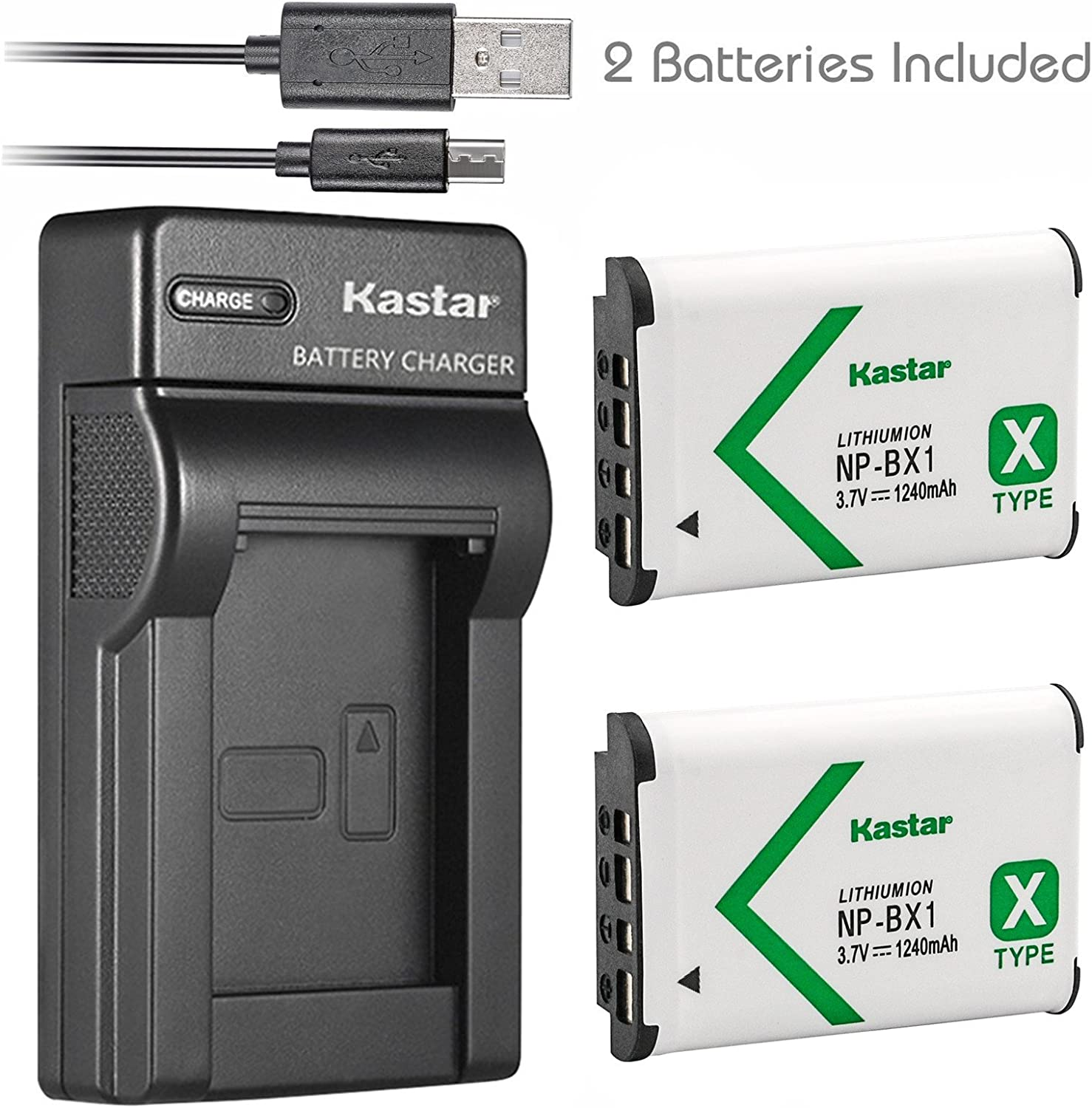 DSLR Triple USB Charger NP-BX1 Battery for Sony DSC-RX100 HX300 RX1 HDR-AS15