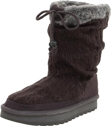 Skechers Women's Keepsakes Blur Casual Sweater Boot,Charcoal Knit,5 ...