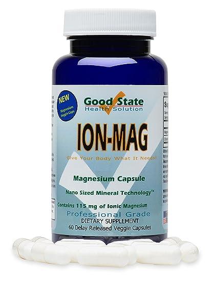 Good State - mg de magnesio iónico 115 ion-Mag. - 60 cápsulas vegetarianas