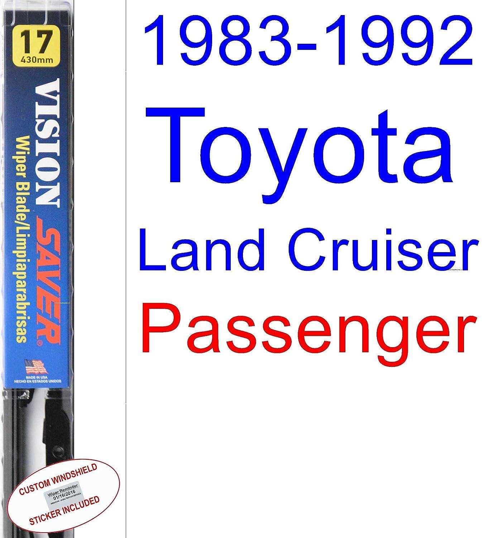 Amazon.com: 1983-1992 Toyota Land Cruiser Wiper Blade (Driver) (Saver Automotive Products-Vision Saver) (1984,1985,1986,1987,1988,1989,1990,1991): ...